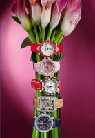 watches and flowers by LadyMartist