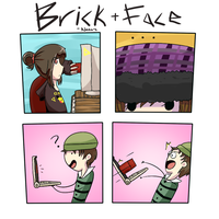 Brick to the Face by Hannavi