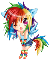 Rainbow Dash by lulu-fly