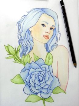 Fantasy Women and Flowers Coloring Book by BasakTinli