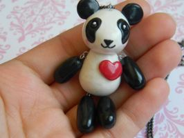 Dangly Panda Necklace by ThePetiteShop