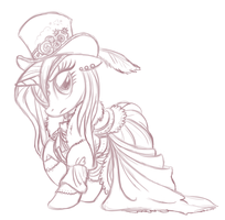 Steampunk Rarity Sketch by WhiteDiamondsLtd