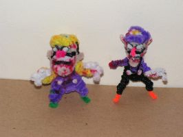 Wario and Waluigi (Zombies) by fuzzyfigureguy