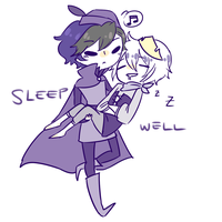 DAY 7 OTP challenge- cosplay (sleep well) by madcowCarcass