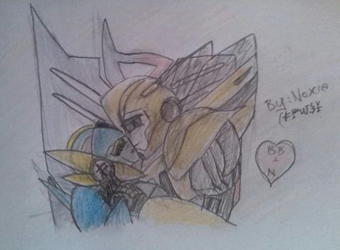 Prime Bumblebee and Noxia by NoxiaPrime