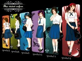 Thai student uniforms by MILIMOR