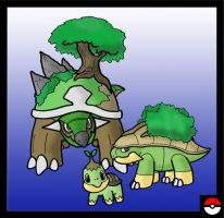 Turtwig Family by ZappaZee