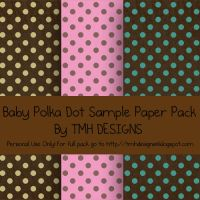 Baby Polka Dot Sample Paper Pack by frenzymcgee