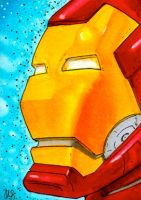 Iron Man Sketchcard by Pencilbags