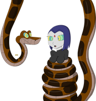 Kaa and Raven Re-Color by kaafan33