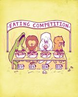 Eating Competition by randyotter