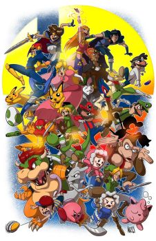 Super Smash Bros Melee by IAMARG
