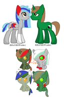 Coloured Motley Foals .:Breedable Entry. by kikiwolfluver