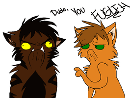 Firestar vs Tigerstar by candy-behemoth