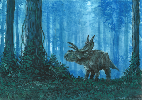 Horns28: Xenoceratops by tuomaskoivurinne