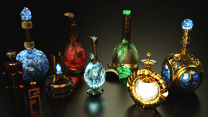 Skyrim Potions 2nd Set - TES 5 by Etrelley