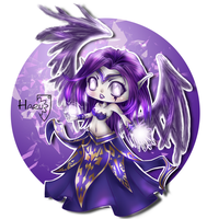 League of Legends Morgana classic skin by HarukArt