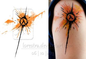 Lambda (half life) tattoo by lorestra