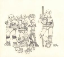 2012 Teenage Mutant Ninja Turtles Gang by FlowerPhantom