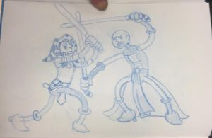 Star Wars doodle 3 - The Clone Wars by JK-Antwon