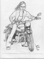 Motorcycle Girl by Jimmy-B-Deviant