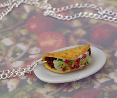 Taco Necklace by DeliciousTrickery