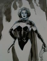 Black Queen Thoughtbubble sketch by MarcLaming