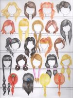 Natural Hair Color Hairstyles: Female Version by errisirre