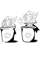 recycle bin idea by MystressVulpes
