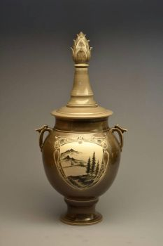 Lidded Jar with Painting by Archaicdawn