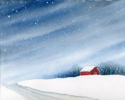 Winter Barn by LG-Young