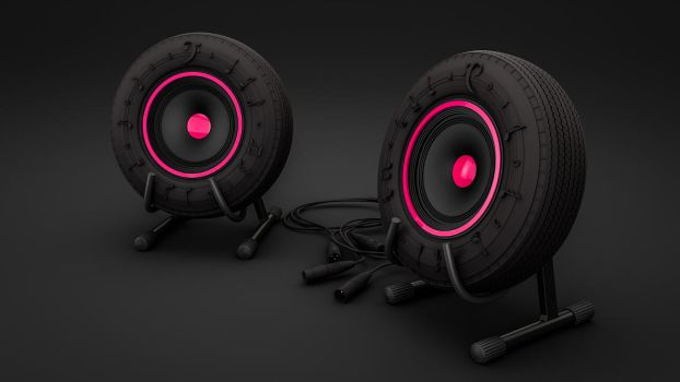 Tire-Speaker by NIKOMEDIA