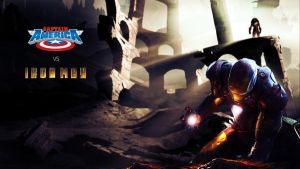 Captain America vs Ironman by Matzell