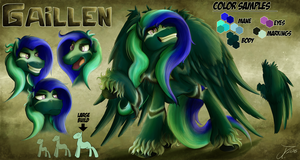 Reference Sheet - Gaillen the Four Winged Pegasus by jamescorck