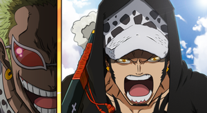 Donquixote Doflamingo Vs Trafalgar Law by Leosanze