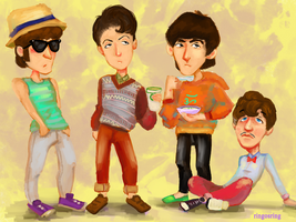Hipster Beatles Chibi by GoodGurlGonBad