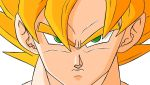 goku angry colored by gokussj50