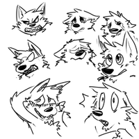 Doodles by sweating