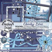 Cheeky Blue Digi Scrap Kit by netfairy23