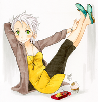 green shoes by meago