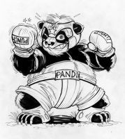 Panda fighter by zzpoil