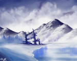 Winter Lake by Imaginary-Alchemist