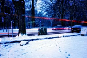 Winter traffic (tonal contrast) by Cthulhu1976