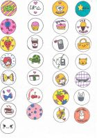 Stickers Original Collection 1 by HieisQueen07