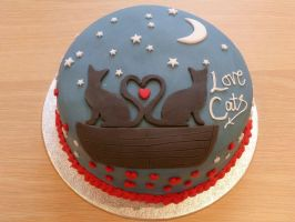 Love Cats Cake by Rebeckington