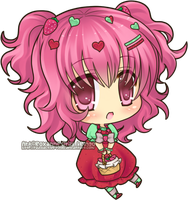 Chibi - Strawberry by Rinselli-chan