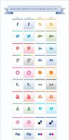 Ribbon Social Media Icons Pack by Designbolts