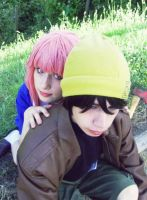 Mirai Nikki Cosplay - Yuki and Yuno by x--Cupcake