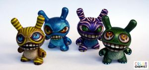 Four Monster Dunnys by bryancollins
