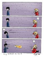 FMA: Snowball fight by eikomakimachi